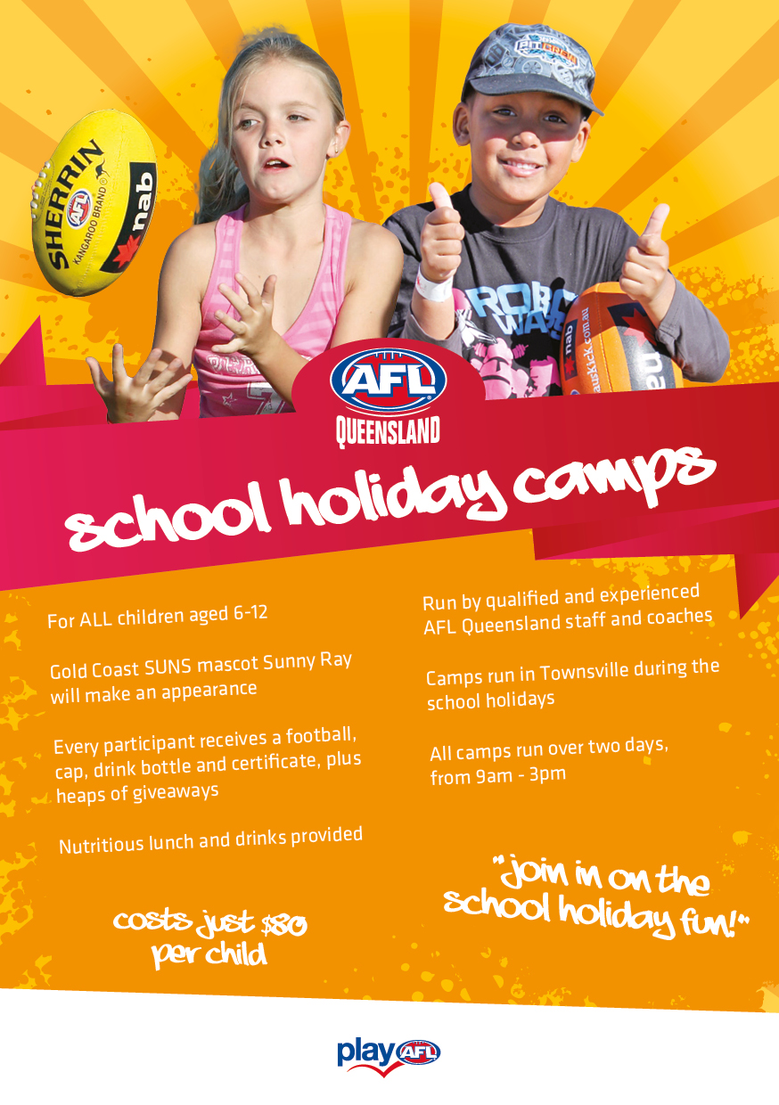 TOWNSVILLE SCHOOL HOLIDAY CAMP FLYER