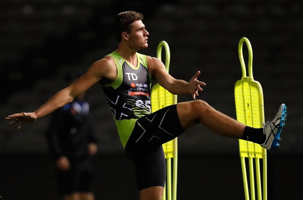 MELBOURNE, AUSTRALIA - OCTOBER 04: Jack Payne in action during the AFL Draft Combine at Etihad Stadium on October 4, 2017 in Melbourne, Australia. (Photo by Michael Willson/AFL Media)